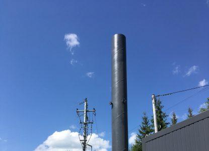 Produkcja, dostawa i montaż komina wolnostojącego w fabryce 3M