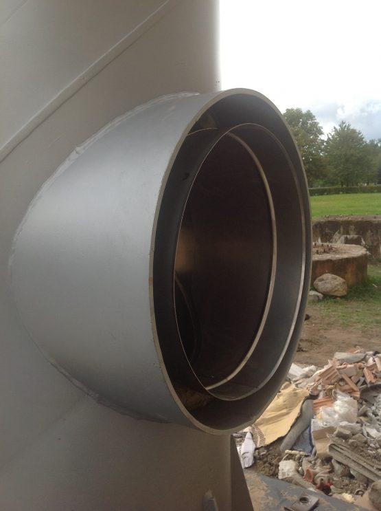 Sośno - montaż komina wolnostojącego stalowego