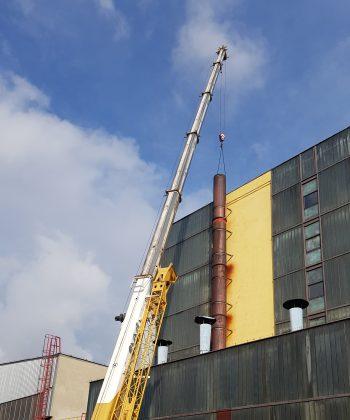 Remont komina stalowego w fabryce PPG Polifarb Cieszyn
