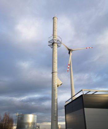 Projekt, produkcja, dostawa i montaż komina wolnostojącego H-30 m, średnica 1220 mm