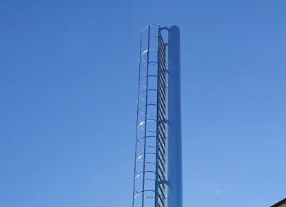 Remont komina stalowego h- 12 m, średnica 355 mm