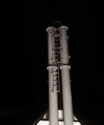 Projekt, produkcja, dostawa i montaż 2 kominów wolnostojących do wentylacji, h- 15 m, średnica 610 mm